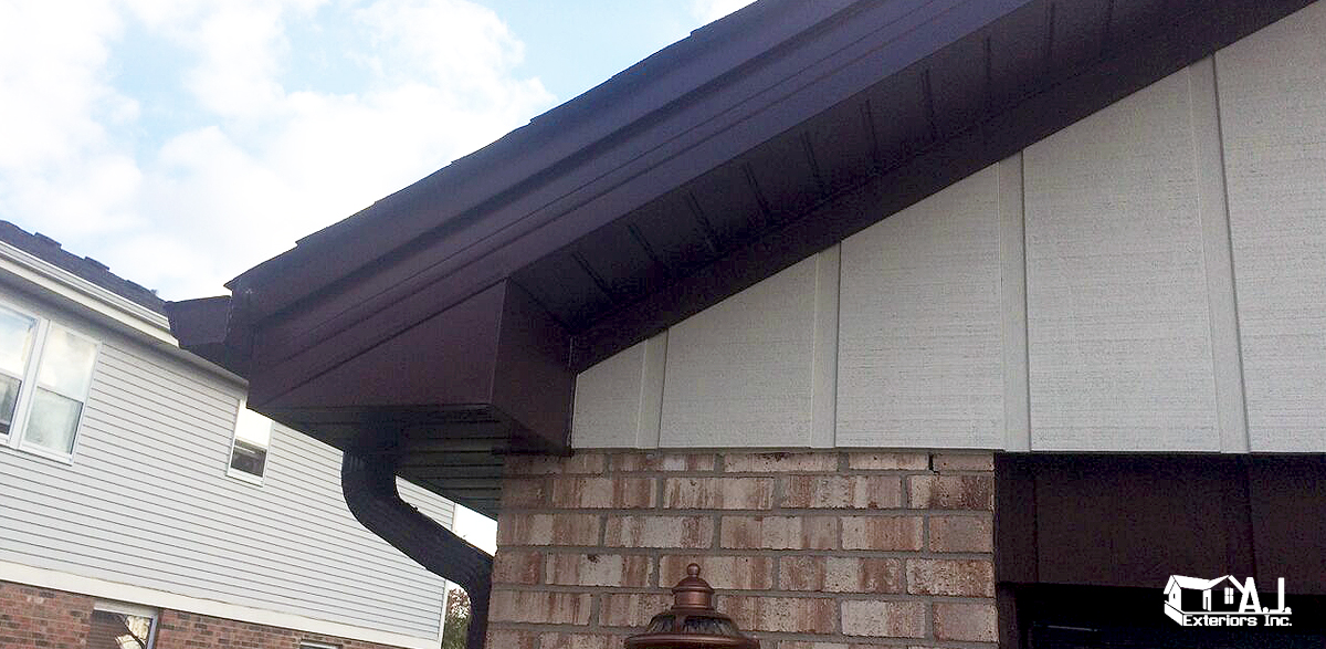 Dark Brown Soffit And Fascia Aj Exteriors Amp Roofing Inc