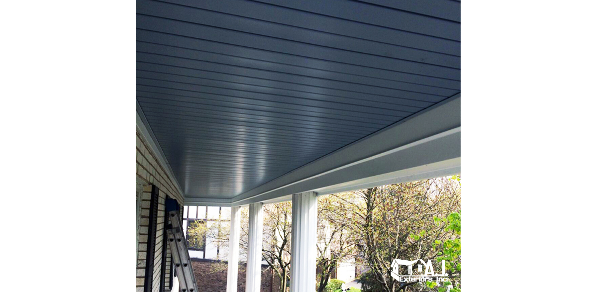 Porch Ceiling Soffit And Vinyl Beam Wrap Aj Exteriors