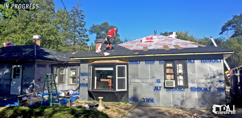 During Construction of Roof and Siding Replacement
